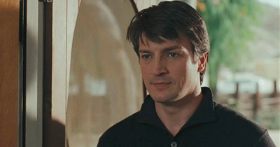 Nathan Fillion In A Screenshot From The Waitress Movie Trailer