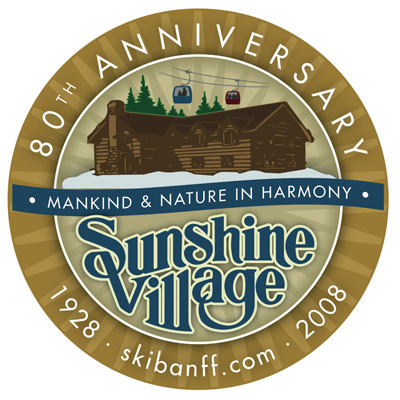Sunshine Village 80th Logo.