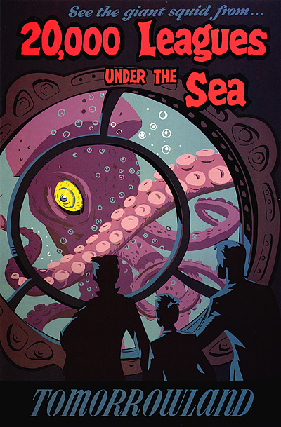 20,000 Leagues Under the Sea Tomorrowland Poster