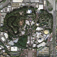 Disneyland Aerial Photo