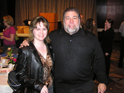 April Kerychuk and Steve Wozniak.