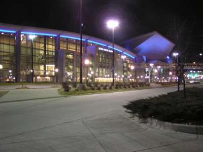 Qwest Center Omaha - NIght view.