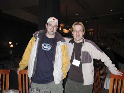 Photo of Jason Blower and Chad Kerychuk at the Banff Centre