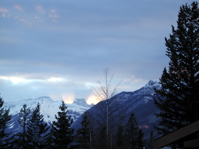 Banff Centre Dining Room Sunset View Photo