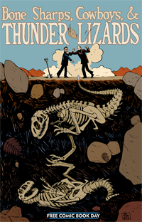 Bone Sharps, Cowboys, & Thunder Lizards Comic Book Cover