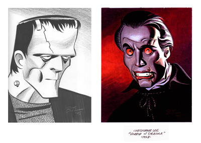 Classic monster art by Bruce Timm.