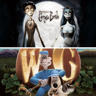 Corpse Bride and Wallace and Gromit images