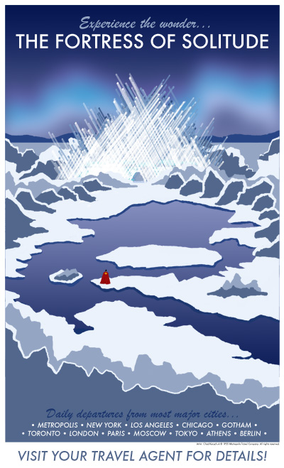 The Fortress of Solitude Travel Poster by Chad Kerychuk