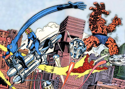 Jack Kirby Fantastic Four Illustration
