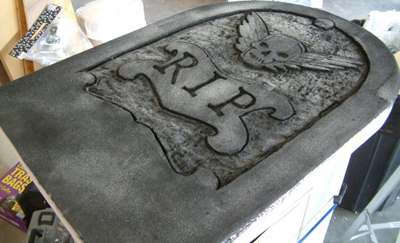 Foam Tombstone photo.
