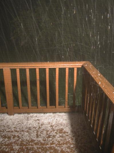 Photo of Hail Storm in Creston Iowa on June 19 2006