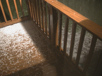 Photo of Hail Storm in Creston Iowa on June 19 2006