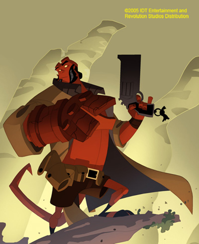 Hellboy Animated Concept Art by Sean Galloway