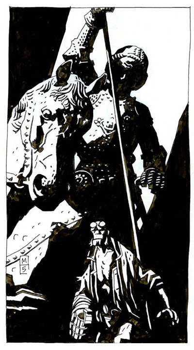 Hellboy Hurricane Katrina Red Cross Relief Lithography by Mike Mignola