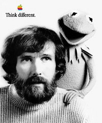 Apple Think Different Poster - Jim Henson and Kermit the Frog
