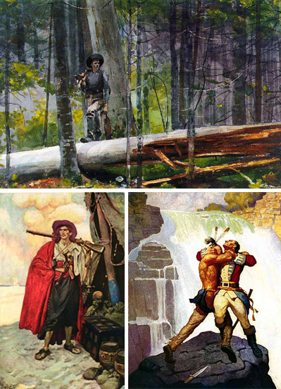 Composite image of Winslow Homer, Howard Pyle, and NC Wyeth paintings.