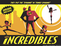 The Incredibles stylized graphic