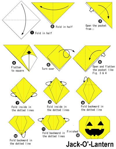 Origami Jack O'Lantern.