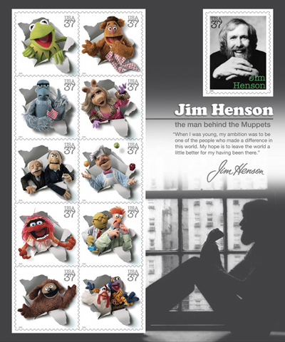 Jim Henson Muppet Stamps Collector Sheet Image