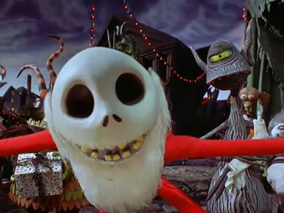 Screenshot from Tim Burton's The Nightmare Before Christmas 3-D