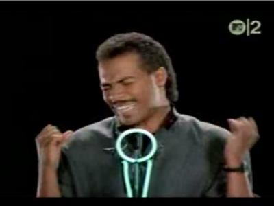 Ray Parker Jr. Ghostbusters video screenshot.