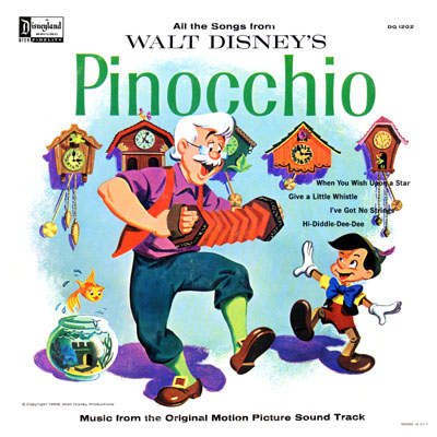 Walt Disney's Pinocchio Record Cover
