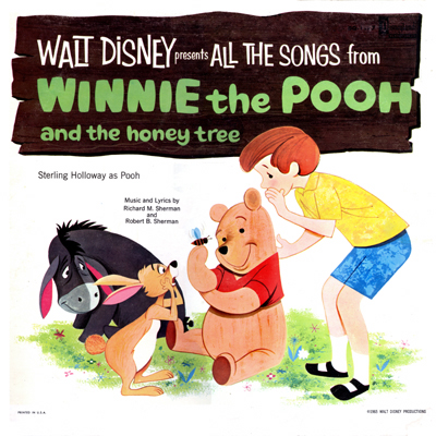 Winnie the Pooh Record Cover Scan