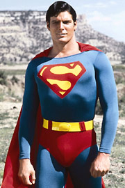 Christopher Reeve as Superman Photo - Superman in the Badlands