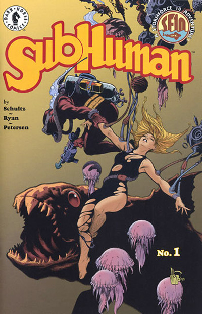 Cover Artwork for SubHuman Issue 1 by Mark Schultz.