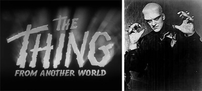 The Thing From Another World graphic.