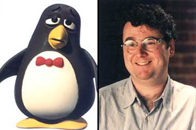 Joe Ranft and Wheezy from Pixar