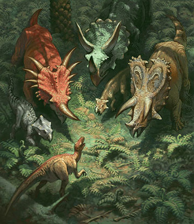 Daren Bader Ceratopsian Painting 01
